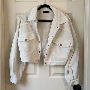 Cropped Cordouroy Jacket